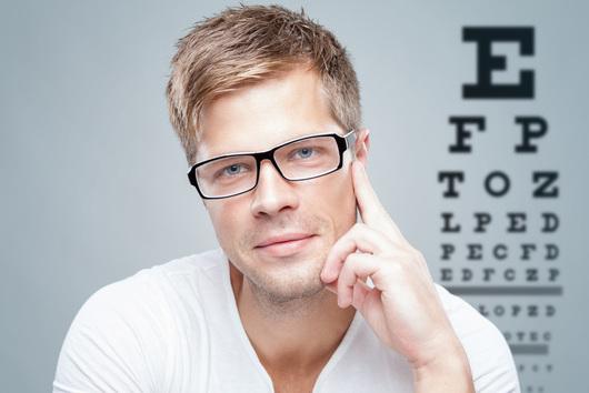 Modische Brille für den Herrn